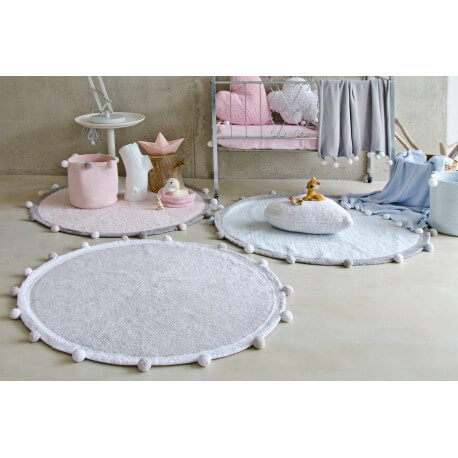 tapis chambre enfant rond bubbly lorena canals