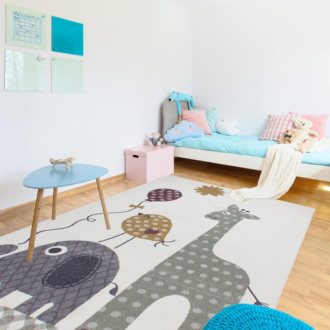 tapis pour chambre enfant multicolore safari