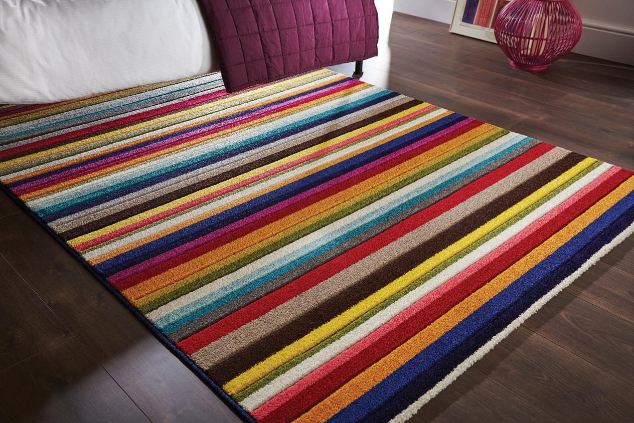 https www allotapis com tapis raye pour salon design multicolore tango