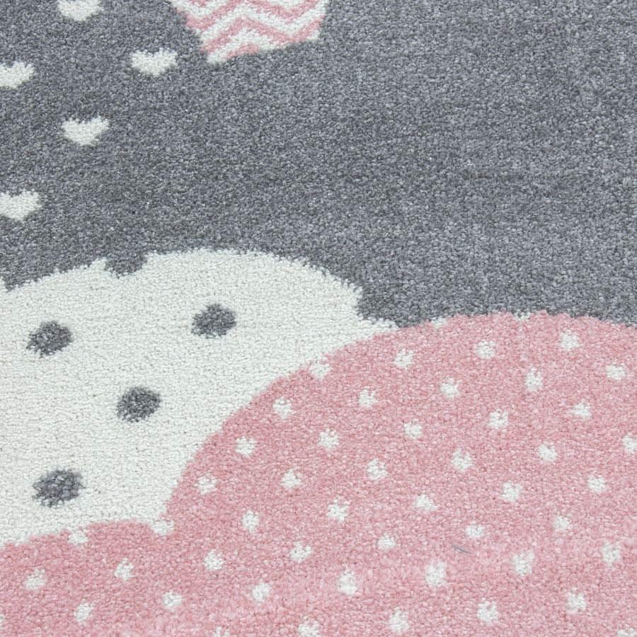 tapis rond pour chambre d enfant cloud