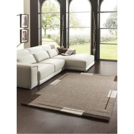 tapis de salon contemporain marron flume
