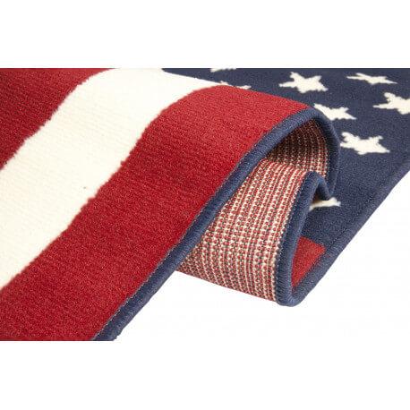 american flag tapis bleu et rouge drapeau americain