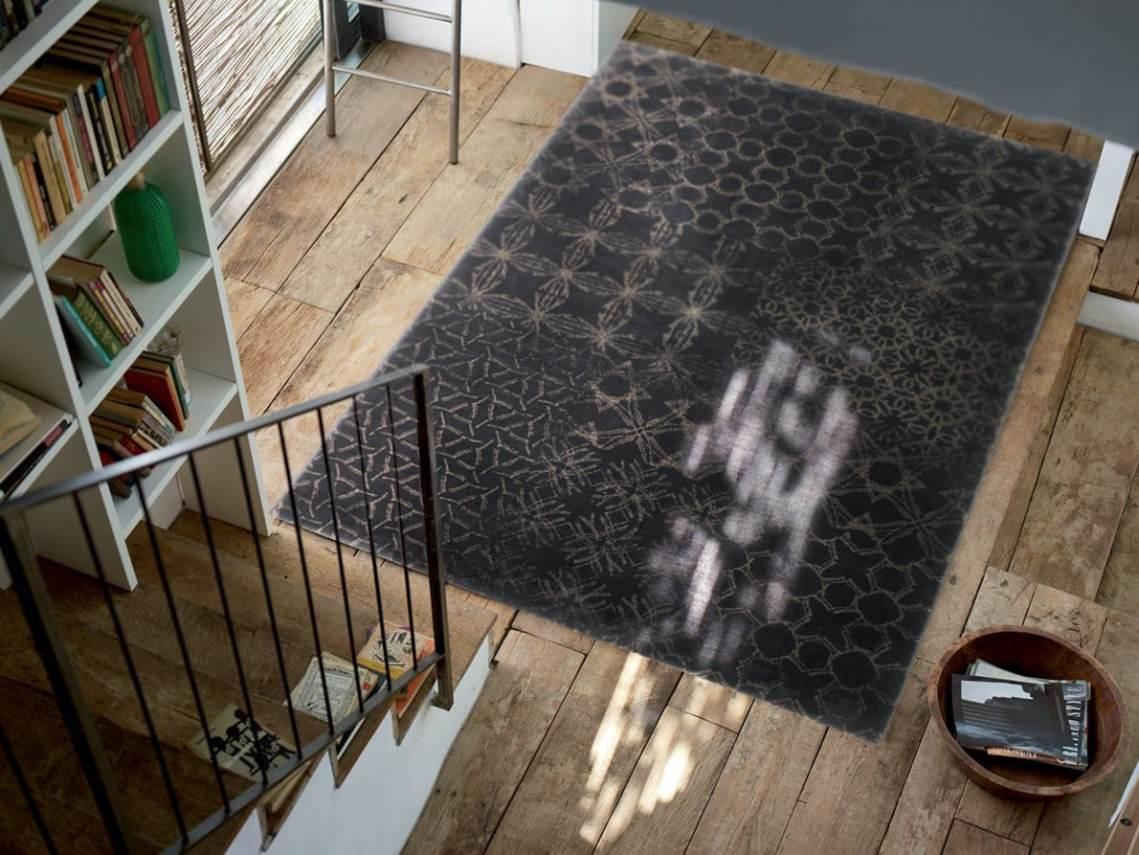 Tapis à courtes mèches noir et beige Hamptons par Esprit Home