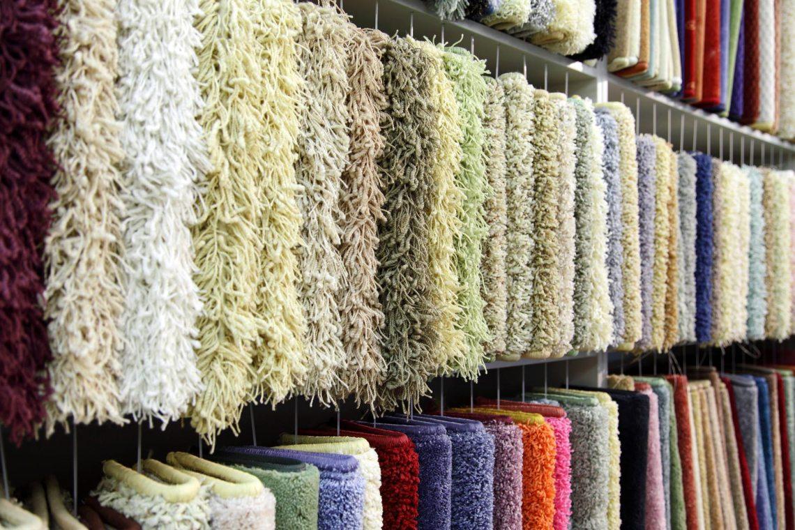 matière des fibres de tapis
