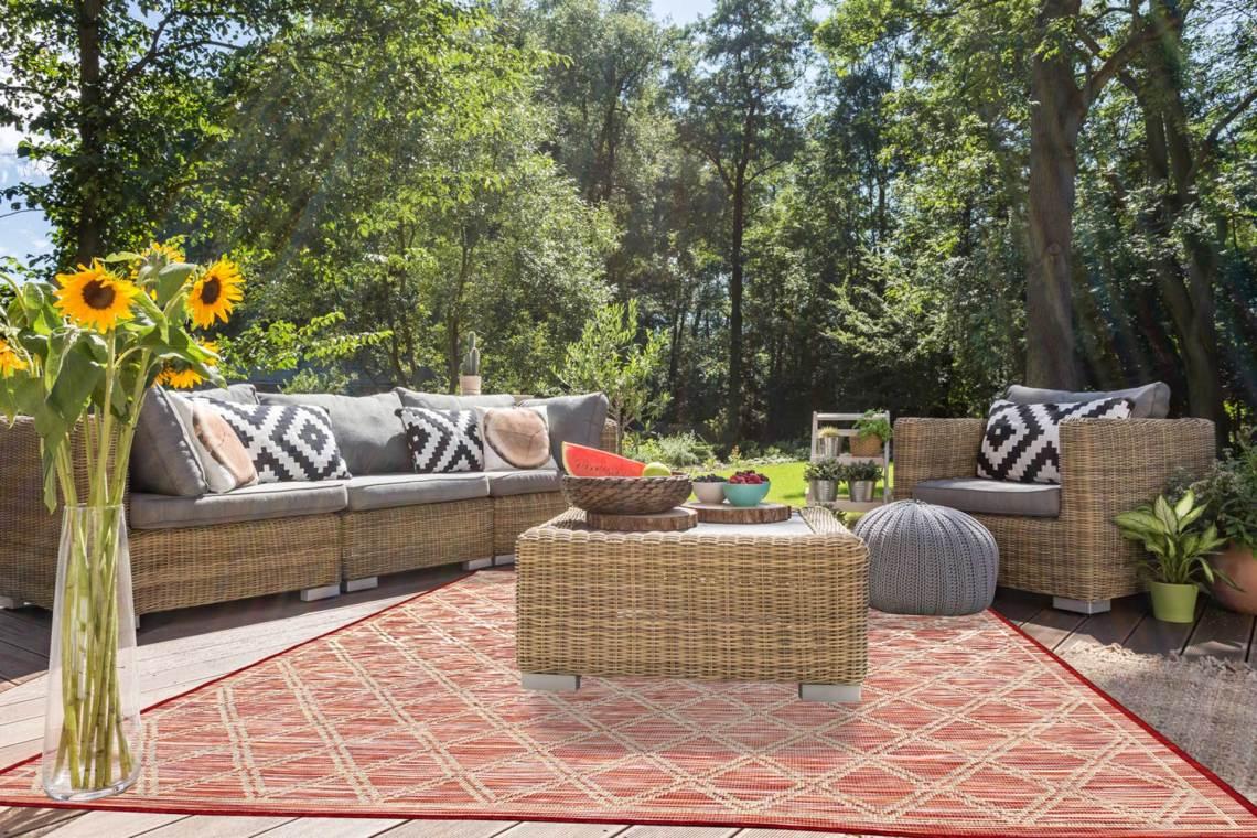 tapis de terrasse décoratif