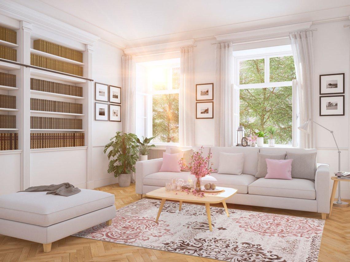 zoom sur le tapis rose