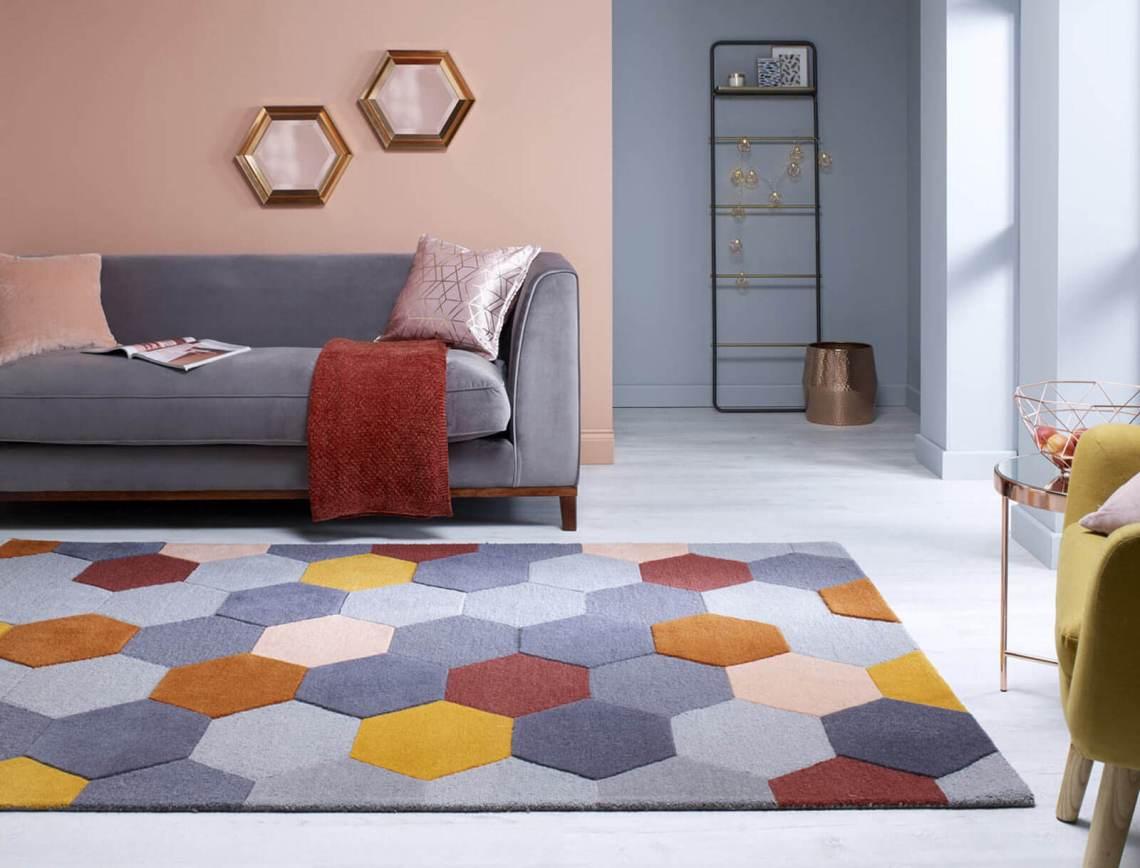 tapis géométrique scandinave