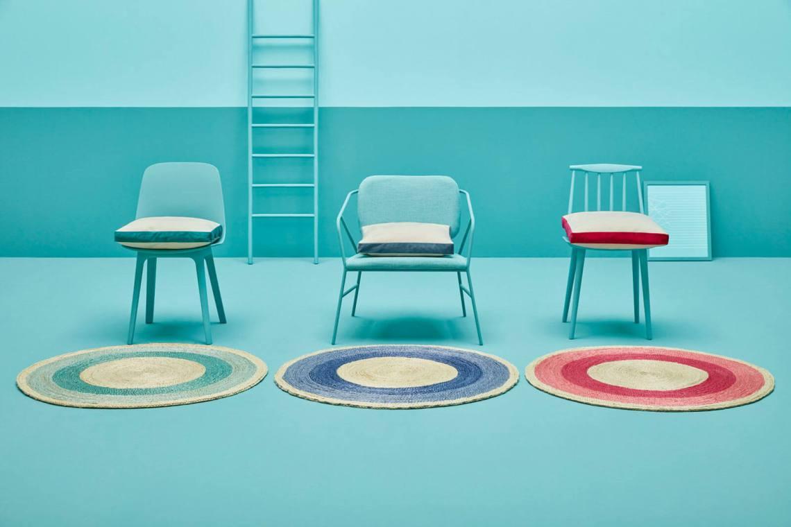 tapis coloré rond