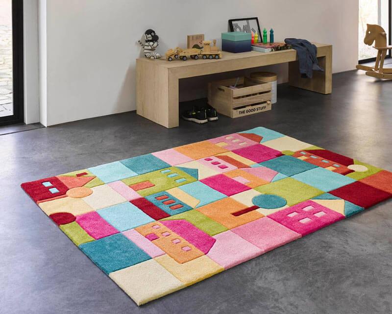tapis enfant multicolore