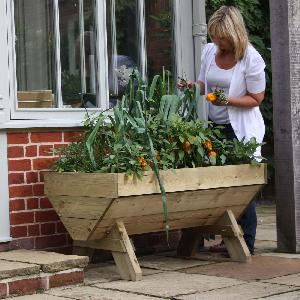 Mini Manger Trough Planters From Patio Growing Allotment