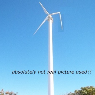 "fake picture of the Point Lookout Wind Turbine being ""broken"""