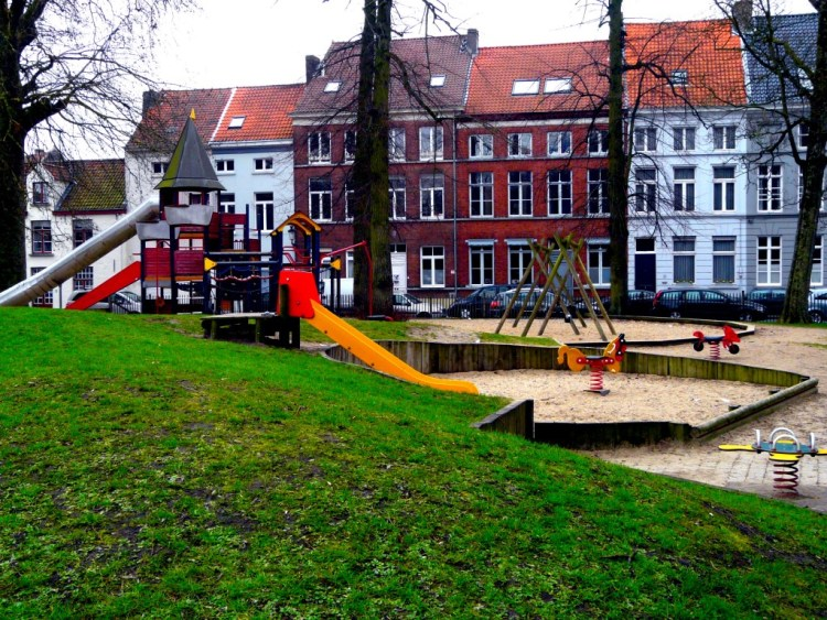 Playground for kids in Bruges