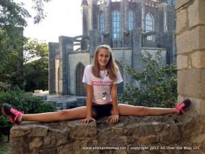 Doing the splits in Girona