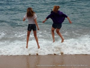 Frolicking in the Mediterranean in the Costa Brava