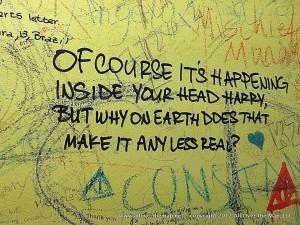 Harry Potter graffiti in Edinburgh