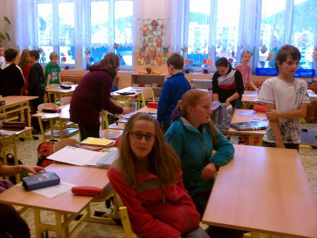 Visiting a classroom in the Czech Republic