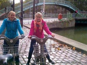 Velib bikes in Paris