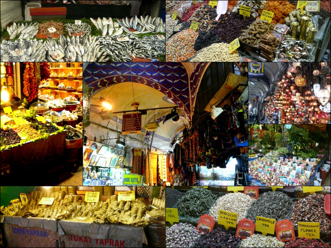 istanbul market collage