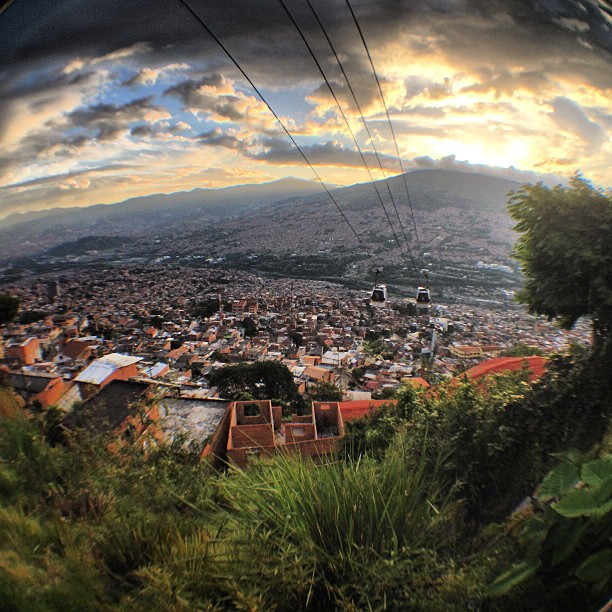 A panoramic view of Medellin from its MetroCable.