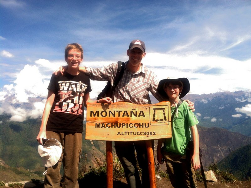 On top of Mount Machu Picchu