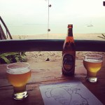Chang beer by the beach in Koh Jum, Thailand