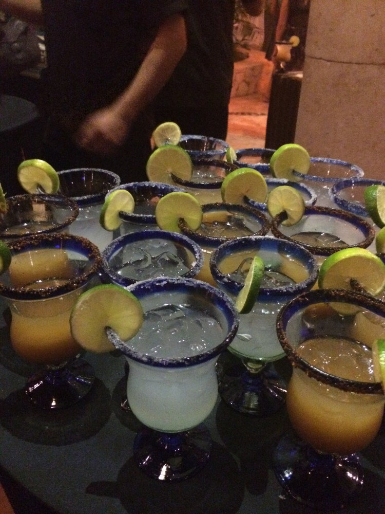 A beautiful tray of Margaritas await the travel bloggers at TBEX