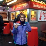 A girl and her hot dog in Reykjavik - Iceland with kids