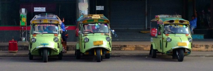 The cutest tuk tuks ever in Trang, Thailand