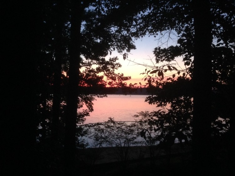 Another highlight - sunset from our Mississippi camp