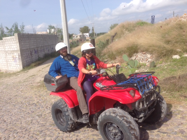 Here, Coconut learns about physics and locomotion by driving a quad on the streets of San Miguel de Allende. Is this happening in the streets of Alexandria? Not without a traffic ticket!