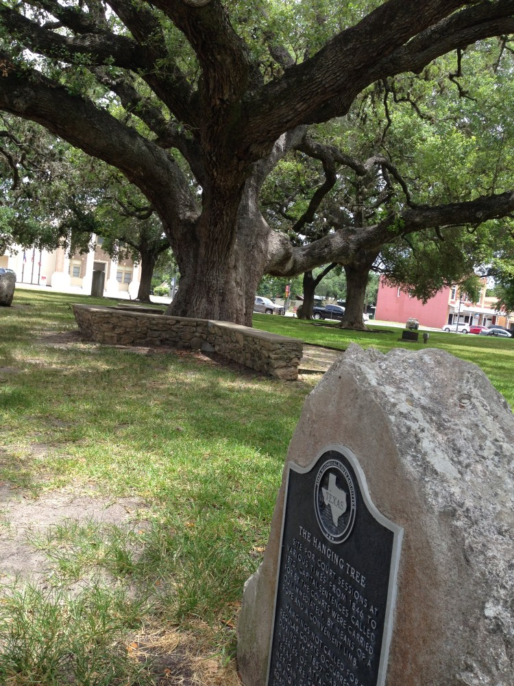 The hanging tree in Goliad, TX, where justice was delivered swiftly.interstate.