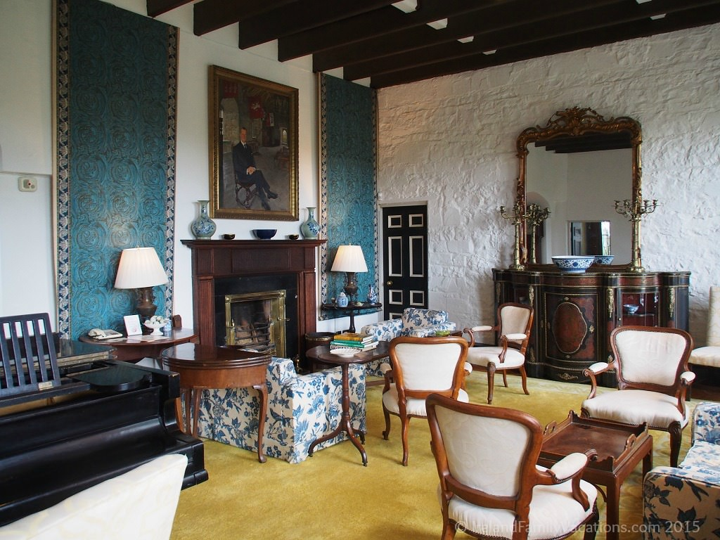 The Drawing Room at Knappogue Castle Hotel in Ireland