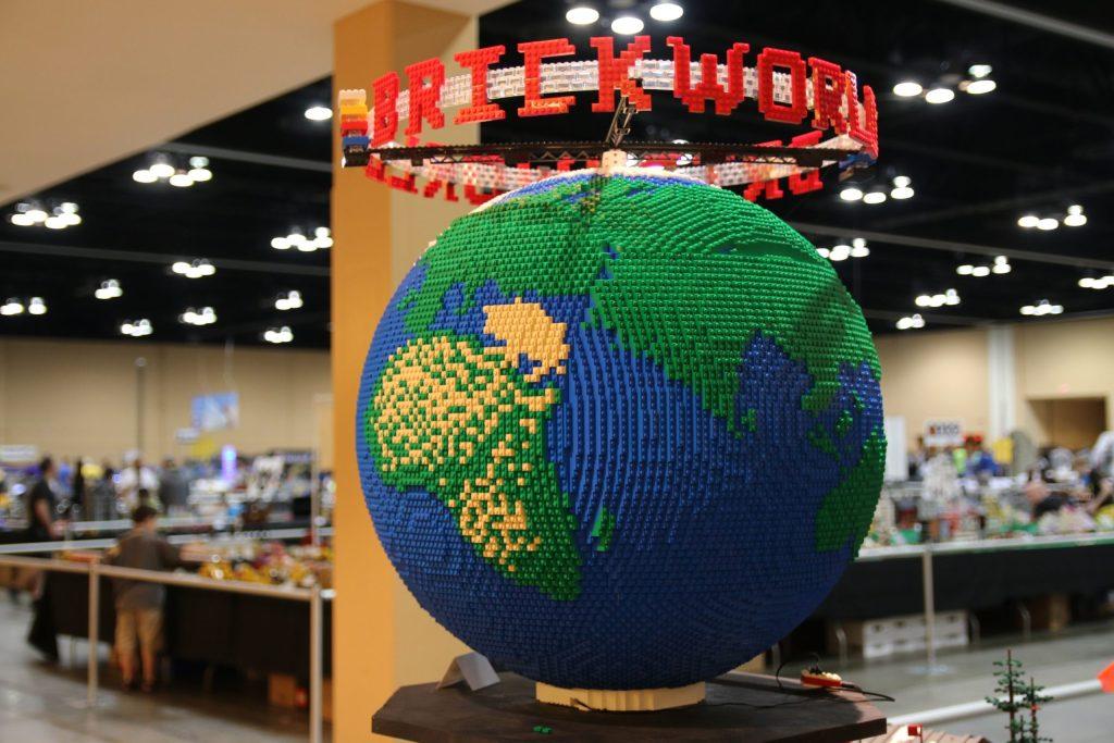 LEGO globe - Brickworld LEGO Virtual Con