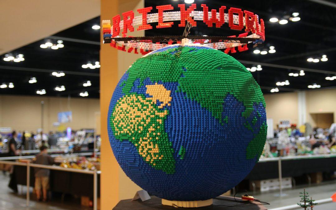 LEGO Globe at Brickworld LEGO Virtual Con