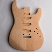2-Piece Alder Rear-Routed S-Style Unfinished Guitar Body