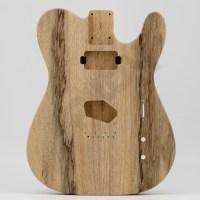 2-Piece Black Limba T-Style Guitar Body