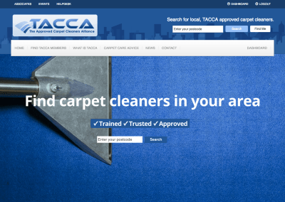 Website redesign for carpet cleaning association