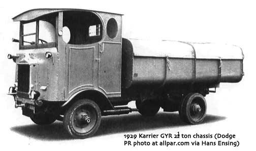 1929 Karrier GYR tractor