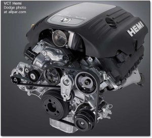 The modern 57 Mopar Hemi V8 engine