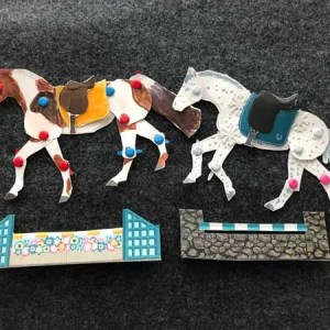articulated horses