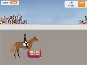 Free horse jumping game