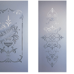 Decourative Sandblasted door glass northern ireland irish sandblasting hand made door glass online