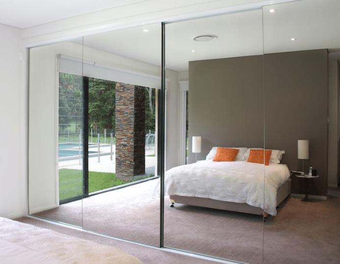 big sale efa76 834a8 Full Length Glass Mirror Sliding wardrobe door replacement ...