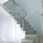 Northern ireland Commercial Glazier architectural glass derry city office renovations interior design frameless glass stair case derry city northern ireland