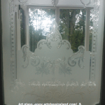 Traditional edwardian Sandblasted and acid etching in ireland by Art glass ireland