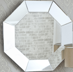 made to measyre full length Octagon Decorative large glass mirror with bevel edge processing any size wall mirrors in derry city and northern ireland