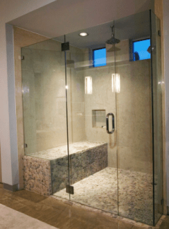 Single Shower Doors All Purpose Glazing - Custom bathroom glass doors