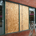 Emergency glazing boarding up service north west ireland Donegal glass and glazing replacement shop front glass