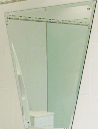 Decorative bathroom sink glass mirror with holes and ...