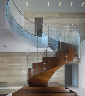 Curved Glass Ireland Curved staircase glass made to measure in Ireland and UK bespoke glass design toughened glass staircase